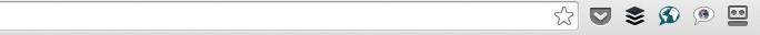 Logo Pocket akan muncul disebelah kanan address bar browser setelah plugin diinstal